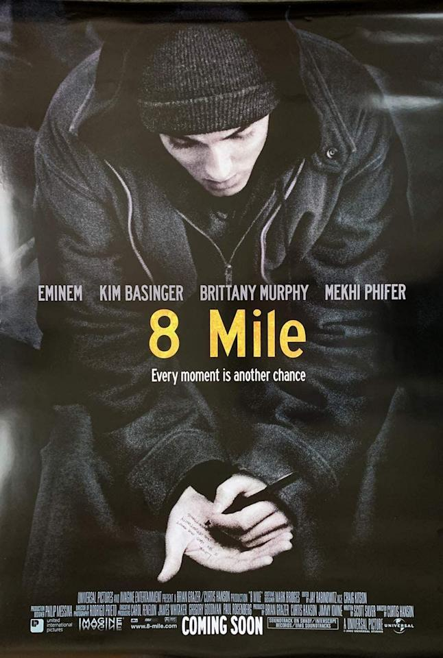 """<p>Although he wasn't there to receive it, Eminem won an Academy Award in 2003 for Best Original Song with """"Lose Yourself"""" from his movie <em>8 Mile.</em> In a surprising turn of events, Eminem made up for his absence back then by performing his winning song at the 2020 Academy Awards. </p>"""