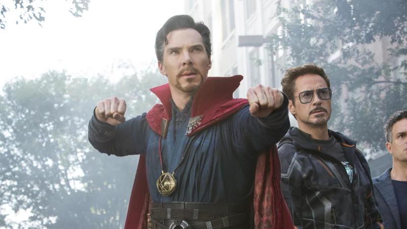 Benedict Cumberbatch as Doctor Strange in 'Avengers: Infinity War'. (Credit: Marvel/Disney)