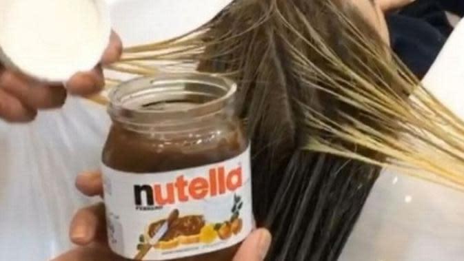 Nutella untuk mewarnai rambut (Mirror)
