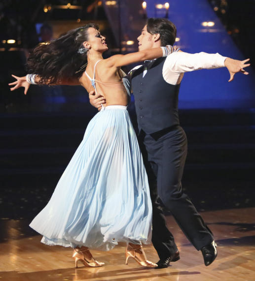 Karina Smirnoff and Apolo Anton Ohno (10/29/12)