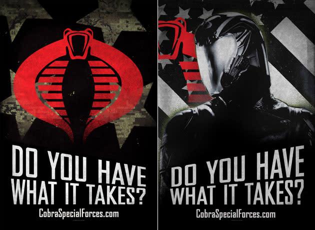 'G.I. Joe: Retaliation' recruits soldiers for COBRA Special Forces