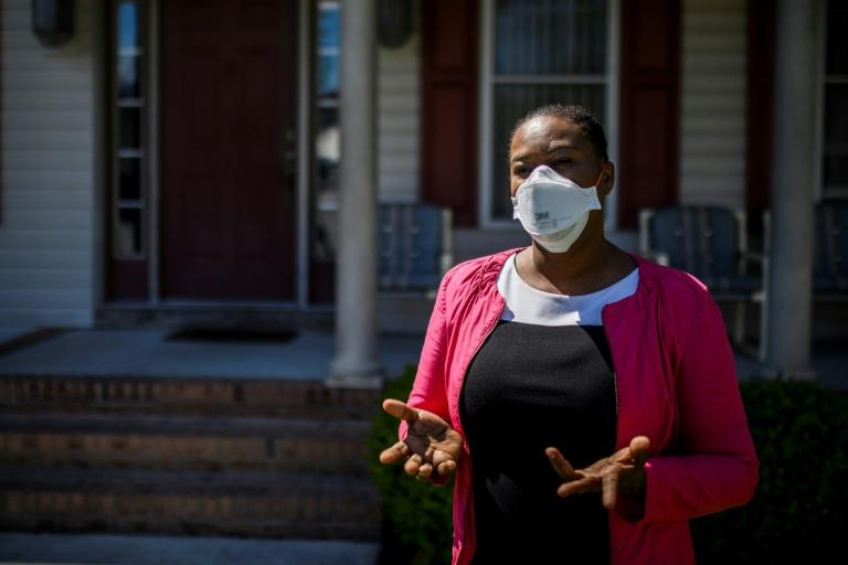 Haitian Nurse Practitioner Nadya Julien tells AFP about the coronavirus spread in the Haitian community working in the local poultry industry in Salisbury, Maryland