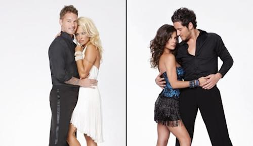 Tristan MacManus with Pamela Anderson; Kelly Monaco with Val Chmerkovskiy -- ABC