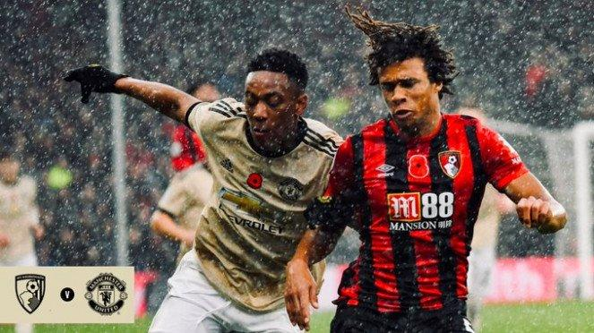 Duel Bournemouth vs Manchester United.