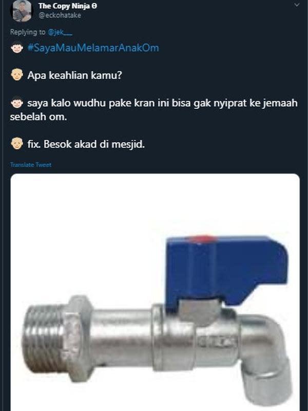 Modal nekat lamar anak orang (Sumber: Twitter/eckohatake)