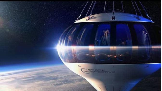 Mau Berwisata ke Luar Angkasa dengan Balon Udara? Siapkan Rp1,8 Miliar. (dok.Instagram @futuristech.info/https://www.instagram.com/p/CB4qd3tJTb3/Henry)