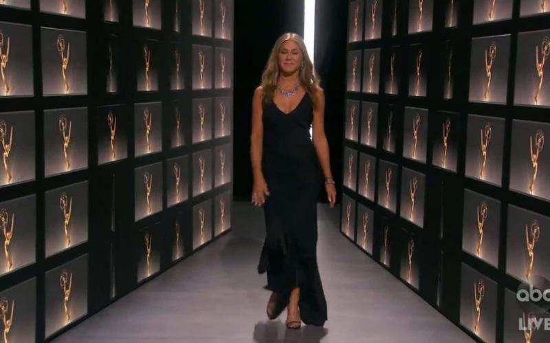 Jennifer Aniston wears vintage Dior to the Emmys - Backgrid