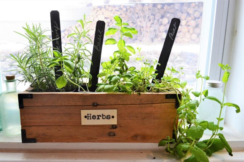 Wood Herb Planter. Image via Etsy.
