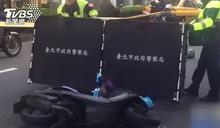 女騎士閃違停Uber遭輾爆頭 司機違規載客下場曝