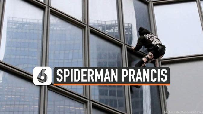 VIDEO: Spiderman Prancis Kembali Beraksi, Panjat Menara Total