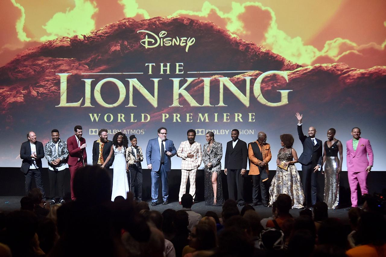 """In the weeks leading up to<em>The</em> <em>Lion King</em>'s July 2019 release, <a href=""""https://people.com/movies/the-lion-king-cast-on-working-with-beyonce/"""">Beyoncé's costars only had the nicest things to say</a> about working with the Queen.  """"Everyone was losing their mind. I've never seen this happen before,"""" Seth Rogen told Jimmy Kimmel of the film's world premiere. """"Beyoncé was called out and the audience stood up and went crazy. And like, and I was like, she's getting a standing ovation for just existing. Like, her mere presence was a reason to stand and go crazy.""""  """"And I totally got it!"""" he continued. """"I was like yeah, we should be celebrating, we made it, we're all in a room with Beyoncé. That's like, that's what you want."""""""