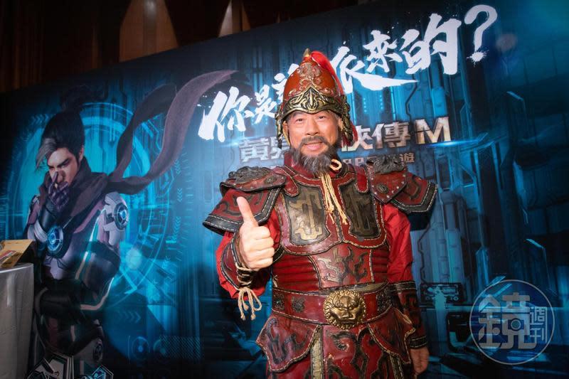《黃易群俠傳M》日前找來藝人藍正龍代言,王俊博還親自粉墨登場。