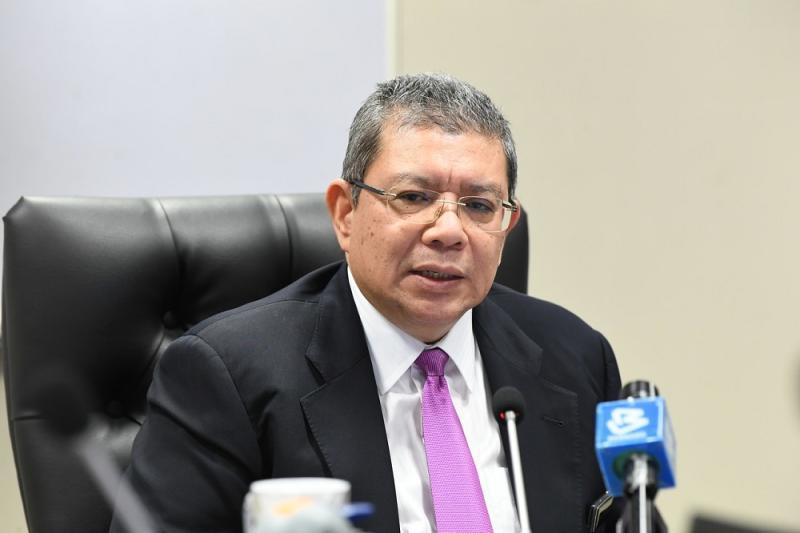 Communications and Multimedia Minister Datuk Saifuddin Abdullah speaks during a press conference at his office in Putrajaya June 9, 2020. — Bernama pic