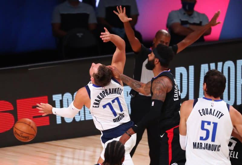 NBA fines Clippers' Morris, Mavericks' Doncic