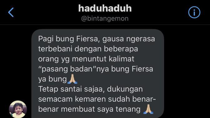 Unggahan Fiersa Besari. (twitter.com/FiersaBesari)