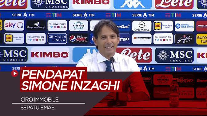 VIDEO: Pendapat Simone Inzaghi Soal Raihan Sepatu Emas Ciro Immobile