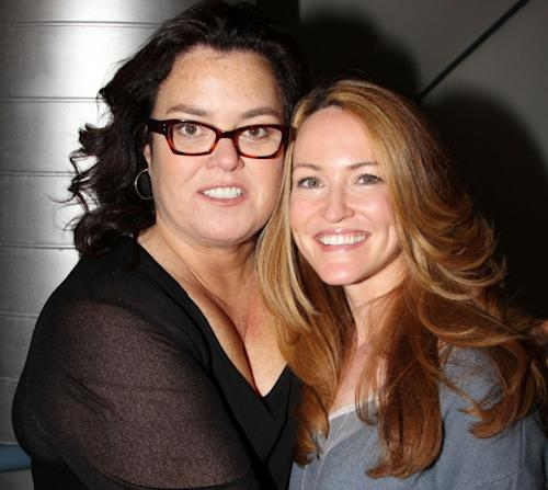 Rosie O'Donnell and Michelle Round are seen at The New Group's 'Women Behind Bars' Reading in New York City on May 7, 2012 -- Getty Premium