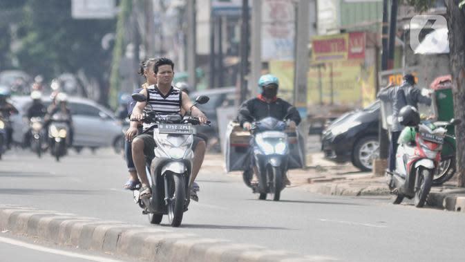 Denda Rp 250 Ribu Menanti Pemotor yang Tidak Pakai Masker Saat PSBB