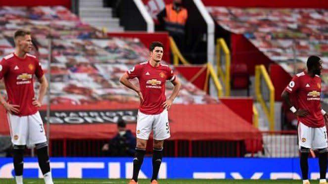 Pemain MU setelah menelan kekalahan memalukan dari Tottenham