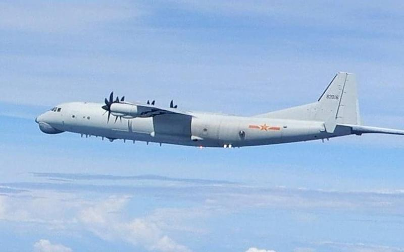 An image of a Chinese Y-8 anti-submarine warfare aircraft entering Taiwan's Air Identification Zone - Taiwanese MInistry of Defence/EPA-EFE-Shutterstock