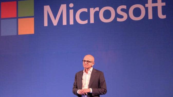 Satya Nadella, CEO Microsoft (Liputan6.com/ Jeko Iqbal Reza)