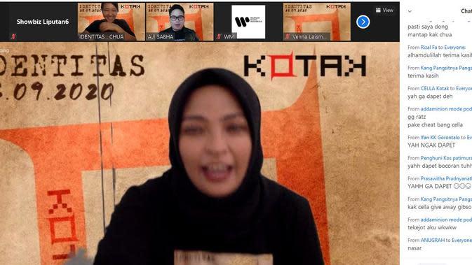 Tantri Kotak di sela-sela peluncuran album Identitas yang dilakukan secara virtual (Liputan6.com/ Hernowo Anggie)