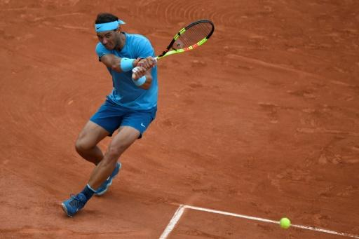 Crushing backhand: Rafael Nadal powered past Guido Pella to reach the third round in style