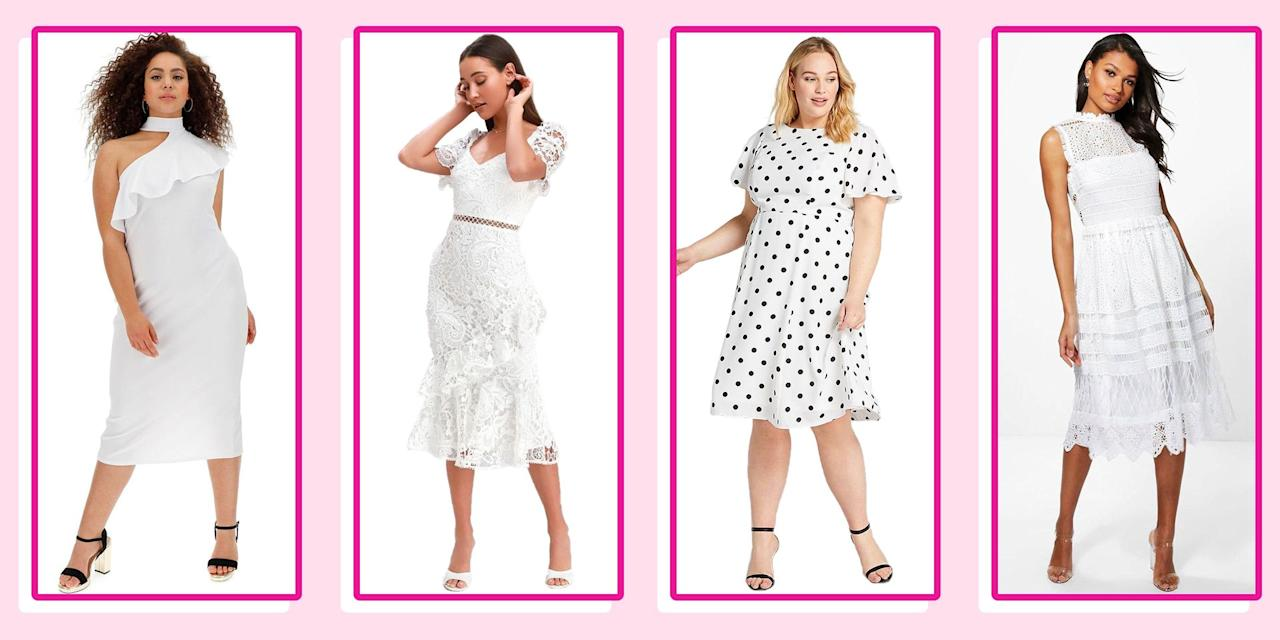 """<p>Don't let that """"white dresses only"""" graduation dress code kill your vibe. Stand out from your classmates (now, alumni!) in these adorable white <a href=""""https://www.seventeen.com/fashion/style-advice/tips/g950/cute-graduation-dresses/"""" target=""""_blank"""">graduation dresses</a> that you'll <em></em>actually<em> </em>be <em>excited</em> to wear<em></em> with your cap and gown. These minis and midis have got photo-worthy details like jumbo ruffles, intricate lace, asymmetrical necklines, cool cutouts – basically, everything you need to shine in a sea of girls all wearing virtually the exact same thing. </p><p>Click ahead to shop the coolest, most unique ivory graduation dresses perfect for college and high school ceremonies, plus, every <a href=""""https://www.seventeen.com/graduation-gifts-party-ideas/"""" target=""""_blank"""">grad party</a> in between. Oh, and did I mention none of them are over a hundred dollars? Because, yeah, they totally aren't.</p><p><strong><strong>Don't have a dress code? <a href=""""https://www.seventeen.com/fashion/style-advice/tips/g950/cute-graduation-dresses/"""" target=""""_blank"""">Shop under-$100 graduation dresses in all colors here</a>.</strong></strong></p>"""