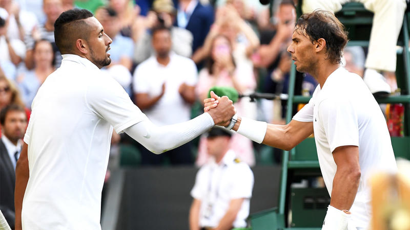 Nick Kyrgios has taken a fresh swipe at Rafael Nadal on Instagram. (Getty Images)