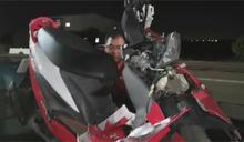 女警車禍倒地 40秒後連兩車輾過不幸亡