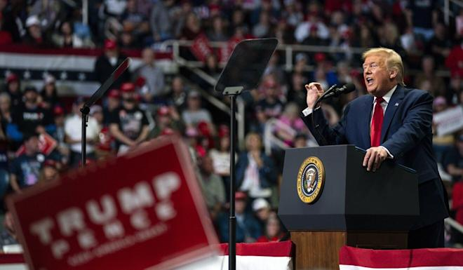 US President Donald Trump (shown on March 2) likes to use China as a scapegoat to fire up his political base. Photo: AP