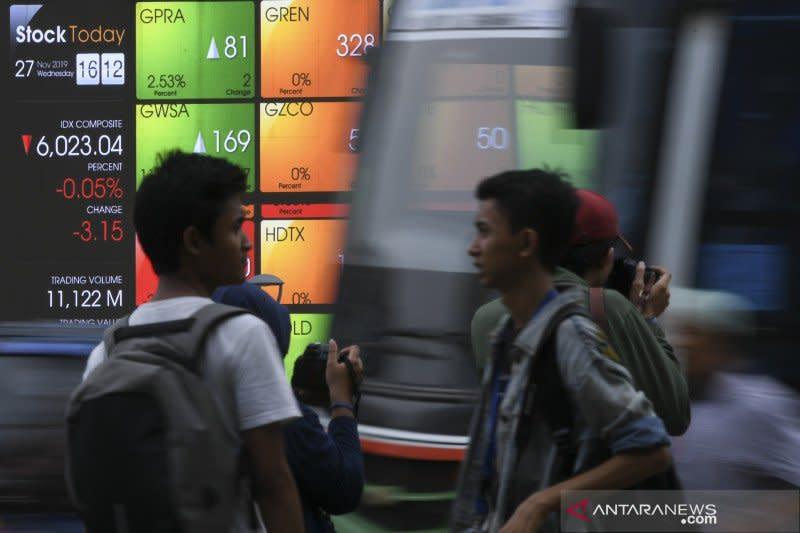 IHSG akhir pekan dibuka melemah terbawa koreksi bursa global