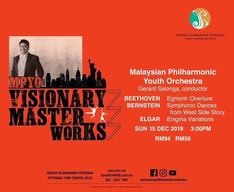 Conductor Gerard Salonga is set to lead the Malaysian Philharmonic Youth Orchestra at Dewan Filharmonik Petronas this Sunday. ― Picture courtesy of Malaysian Philharmonic Orchestra