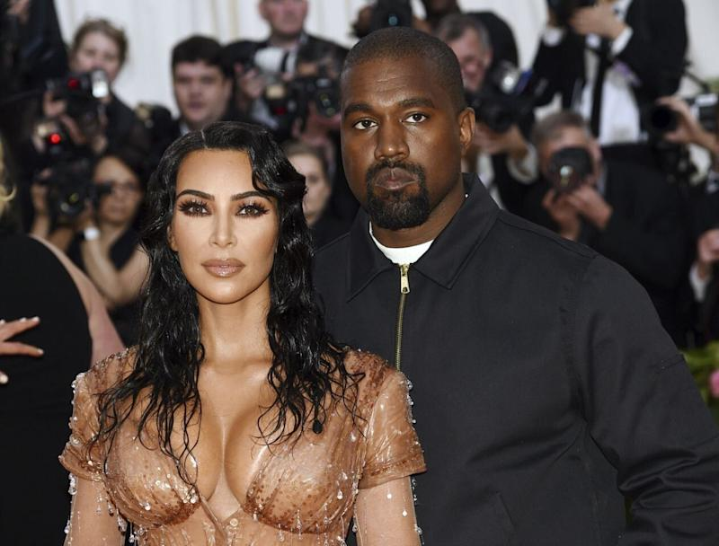 Kim Kardashian shared a sweet screenshot of a text exchange with doting husband Kanye West. Photo: Getty Images
