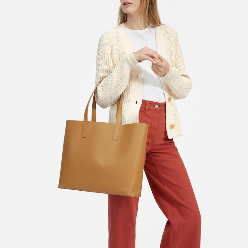 The Day Market Tote in Saddle