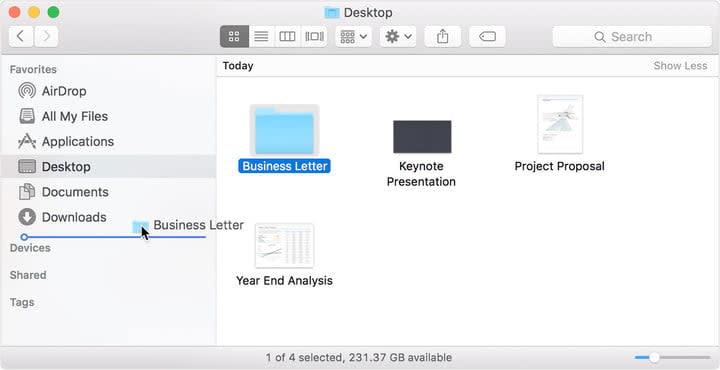 Dragging File
