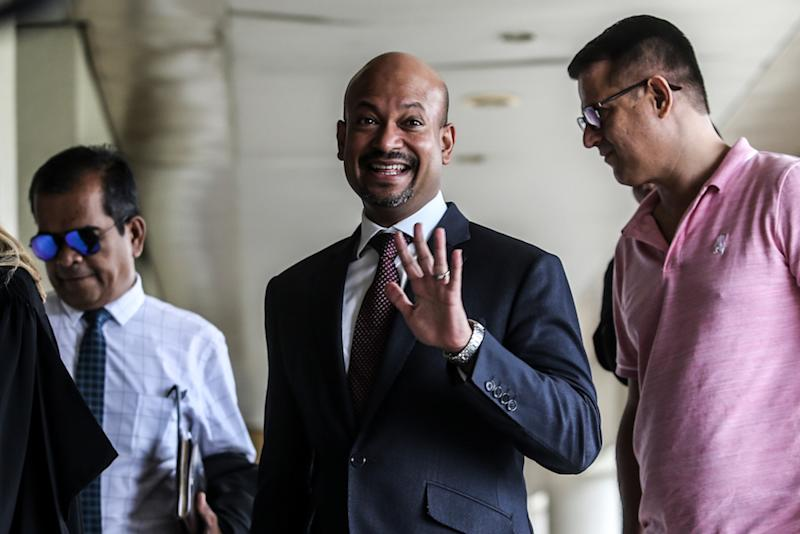 Former 1MDB CEO Arul Kanda Kandasamy is pictured at the Kuala Lumpur High Court January 14, 2020. — Picture by Firdaus Latif