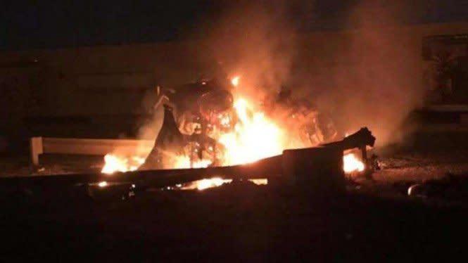 Bandara Internasional Baghdad Dihujani Rudal Katyusha, 4 Mobil Meledak