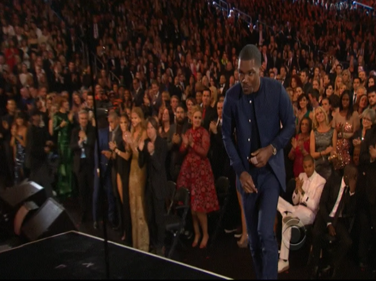 Chris Brown Sits During Frank Ocean Standing Ovation