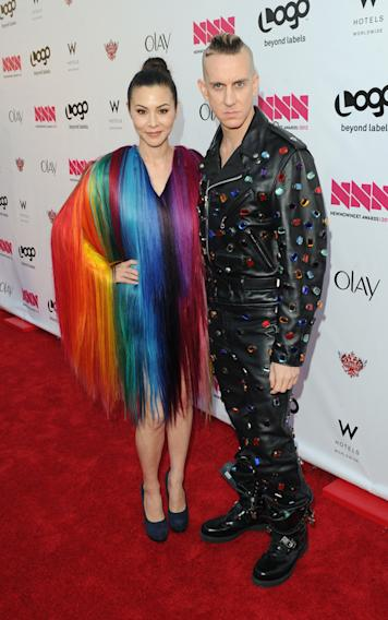 China Chow and fashion designer Jeremy Scott