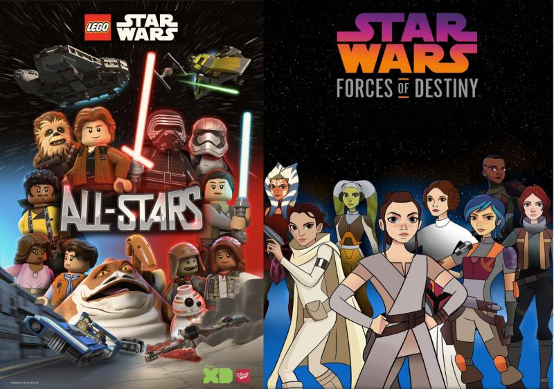 Star Wars kids' series available on Disney+. Images via IMDB.