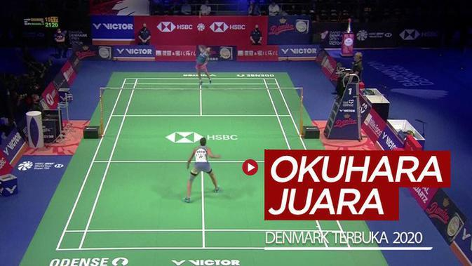 VIDEO: Highlights Bulutangkis Final Denmark Terbuka 2020, Nozomi Okuhara Taklukkan Carolina Marin
