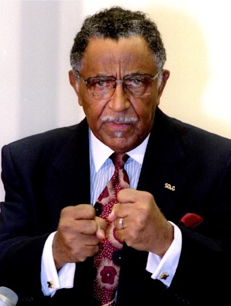 FILE PHOTO: Reverend Joseph E. Lowery of the Southern Christian Leadership Conference criticized US. policy towards Haiti at a press conference in Washington
