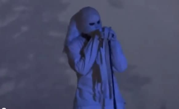 Kanye West Takes Abu Dhabi Stage Dressed In Straitjacket