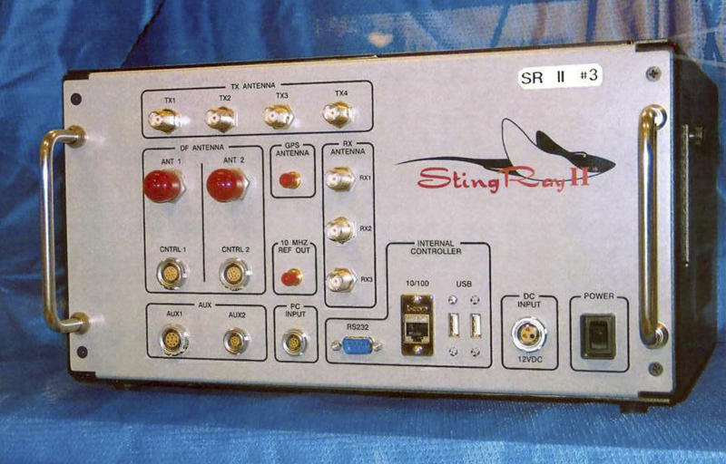 FILE - This undated file photo provided by the U.S. Patent and Trademark Office shows the StingRay II, a cellular site simulator used for surveillance purposes manufactured by Harris Corporation, of Melbourne, Fla. Search warrant documents released Tuesday, March 19, 2019, revealed that the FBI used highly secretive and controversial cellphone sweeping technology similar to that of Sting Ray to zero-in on Michael Cohen, President Donald Trump's former personal attorney, when agents raided his New York City home, hotel room and office. (U.S. Patent and Trademark Office via AP, File)