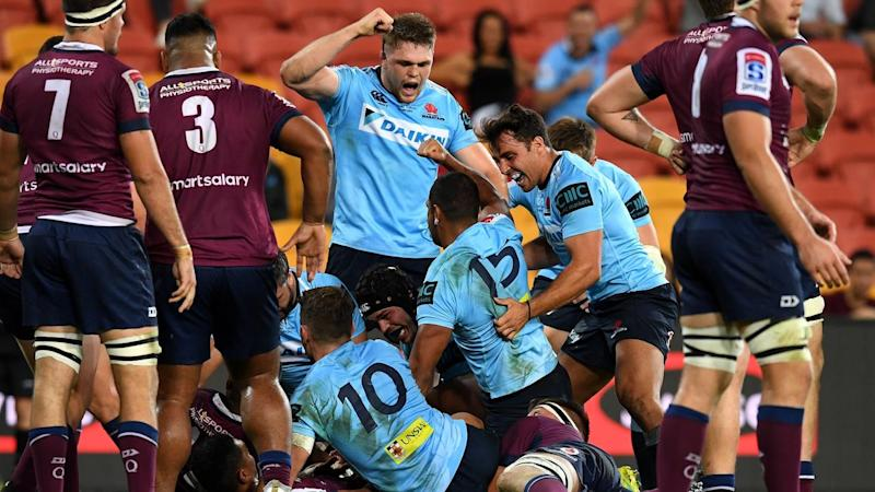The Waratahs have moved back to within a win of the top of the Australian Super Rugby conference