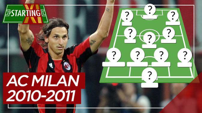 MOTION GRAFIS: Starting XI AC Milan saat Meraih Serie A 2010-2011, Zlatan Ibrahimovich di Antaranya