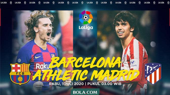 La Liga - Barcelona Vs Atletico Madrid - Head to Head Pemain (Bola.com/Adreanus Titus)