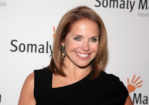 "FILE - This Oct. 23, 2013 file photo shows TV host Katie Couric at the Somaly Mam Foundation Gala in New York. Couric is joining Yahoo to anchor a news program for the Internet company as it tries to expand its audience and sell more advertising. An announcement on Monday, Nov. 25, confirms recent published reports that Couric would diversify into online video programming after spending decades in broadcast television as a talk-show host and news anchor. The 56-year-old Couric will continue to host her daytime talk show, ""Katie,"" on ABC even after she becomes Yahoo's ""global anchor"" beginning next year. (Photo by Andy Kropa/Invision/AP, File)"