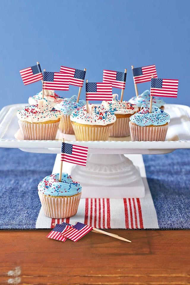 "<p>If there's one thing better than a <a href=""https://www.goodhousekeeping.com/food-recipes/g413/great-grilling-recipes/"" target=""_blank"">backyard BBQ</a> come July 4th, it's a table full of festive, patriotic desserts — especially when they're decked out in America's best colors! This year, celebrate America's birthday in style with the best 4th of July cupcakes, from the most scrumptious <a href=""https://www.goodhousekeeping.com/holidays/g1748/red-white-blue-july-fourth-desserts/"" target=""_blank"">red, white, and blue treats</a> to delicious bites adorned with sprinkles, fruits, American flags, and more. Whether you're partial to extravagantly-decorated, truly star-spangled cupcakes or a simple recipe that's as classic (and American) as apple pie, any one of these sweet bites will be the perfect addition to a festive day full of <a href=""https://www.goodhousekeeping.com/food-recipes/easy/g4310/fourth-of-july-appetizers/"" target=""_blank"">mouthwatering apps</a>, <a href=""https://www.goodhousekeeping.com/food-recipes/g1553/burger-recipes/"" target=""_blank"">juicy burgers</a>, and of course a <a href=""https://www.goodhousekeeping.com/food-recipes/g4316/fourth-of-july-drinks/"" target=""_blank"">refreshing drink</a> to cool off. </p><p>Looking for more Independence Day ideas? Be sure to check out our best <a href=""https://www.goodhousekeeping.com/holidays/g2069/4th-of-july-recipes/"" target=""_blank"">4th of July recipes</a> before celebrating with fun <a href=""https://www.goodhousekeeping.com/home/craft-ideas/g2477/american-crafts/"" target=""_blank"">family crafts</a>, festive <a href=""https://www.goodhousekeeping.com/life/entertainment/g27656502/4th-of-july-movies/"" target=""_blank"">Independence Day flicks</a>, and more!</p>"